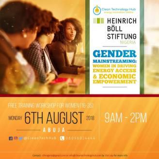 CTH Gender training flier